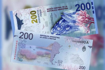 El nuevo billete de 200 pesos se presentará en Chubut